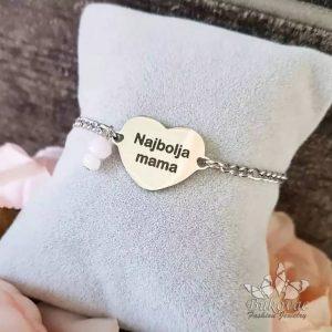 Najbolja MAMA narukvica od medicinskog čelika - Bukovac Fashion Jewelry